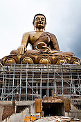 Construction is at full swing at Buddha Dordenma - a gigantic Shakyamuni Buddha statue under construction overlooking the southern approach to Thimphu, Bhutan. Upon completion, it will be one of the largest Buddha in the world, at a height of 169 feet (51.5 meters). Photo: Sanjit Das/Panos