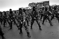 Chechen special forces on parade during the anniversary of the Chechen deportation in 1944, when Stalin deported all Chechens to Kazakhstan...