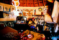 Modjadji, 1988, inside her personal bedroom. Greg Marinovich.