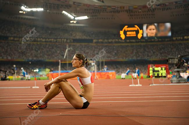 Women's High Jump final, Tia Hellebaut (Belgium) - gold, National Stadium, Summer Olympics, Beijing, China, August 23, 2008