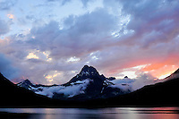 Swiftcurrent Lake, Glacier NP, Montana, Sunset after the storm