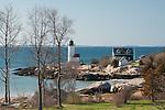 Annisquam Light guards the north shore of Cape Ann, Massachusetts.