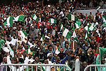 Egyptian fans watch the African Cup of Nations group G qualification football match between Egypt and Nigeria at the Borg el-Arab Stadium in Alexandria on March 29, 2016. Photo by Stringer