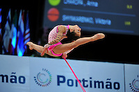 Aysha Mustafayeva of Azerbaijan (junior) performs at 2010 World Cup at Portimao, Portugal on March 13, 2010.  (Photo by Tom Theobald).