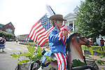 Cooper Eddleman is Yankee Doodle in the 4th of July parade in Oxford, Miss. on Wednesday, July 4, 2012.
