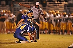 Oxford High's Cody Mills (29) makes a field goal to tie the game at 24 vs. Hernando in Oxford, Miss. on Friday, October 14, 2011. Hernando won 31-30 in overtime.