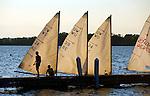 Sailing on Lake Mendota near the University of Wisconsin campus in Madison, Wisconsin.