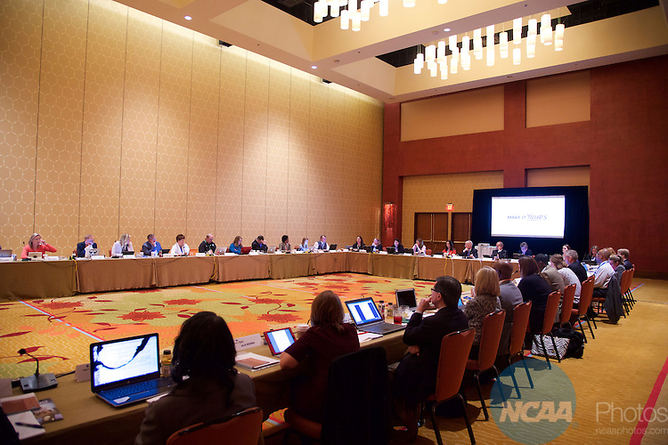 13 JAN 2016:  The Division II Management Council meets during the 2016 NCAA Convention held at the Grand Hyatt San Antonio in San Antonio, TX.   Jamie Schwaberow/NCAA Photos