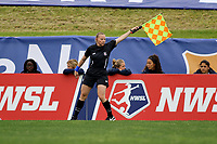 Piscataway, NJ - Saturday May 20, 2017: Maggie Short during a regular season National Women's Soccer League (NWSL) match between Sky Blue FC and the Houston Dash at Yurcak Field.  Sky Blue defeated Houston, 2-1.