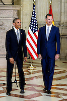 King Felipe VI of Spain and President of United States of America Barack Obama.