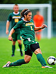 12 September 2010: University of Vermont Catamount defender Sean Sweeney, a Sophomore from Cromwell, CT, in action against the Cornell University Big Red at Centennial Field in Burlington, Vermont. The Catamounts defeated the Big Red 2-1. Mandatory Credit: Ed Wolfstein Photo