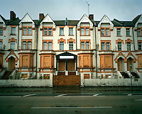 A hostel in West London which was used to house refused asylum seekers and is now derelict. It is estimated that there are as many as 300,000 rejected asylum seekers living in the UK.
