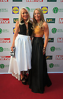 19/05/2015 <br /> (L to r) <br /> Esther &amp; Caitriona McGovern <br /> during the Irish mirror pride of Ireland awards at the mansion house, Dublin.<br /> Photo: gareth chaney Collins
