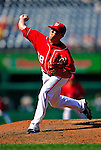 29 August 2010: Washington Nationals pitcher Drew Storen on the mound against the St. Louis Cardinals at Nationals Park in Washington, DC. The Nationals defeated the Cards 4-2 to take the final game of their 4-game series. Mandatory Credit: Ed Wolfstein Photo