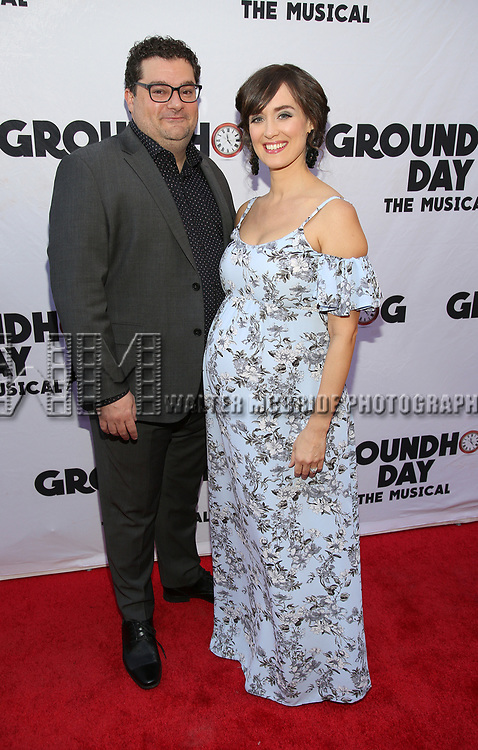 Bobby Moynihan and Brynn O'Malley attend the Broadway Opening Night performance of 'Groundhog Day' at the August Wilson Theatre on April 17, 2017 in New York City