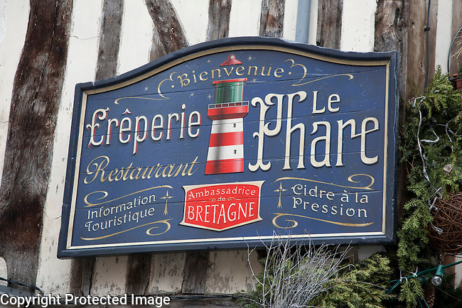 The Sign of the Lighthouse Creperie in Rouen, France