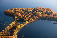 Autumn aerial views of Lake Minnetonka by Minneapolis photographer James Kruger.