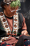 Rukai woman cross-stitching, Wutai, Sandimen, Pingtung County, Taiwan