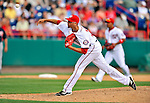 6 March 2011: Washington Nationals' pitcher Luis Atilano on the mound during a Spring Training game against the Atlanta Braves at Space Coast Stadium in Viera, Florida. The Braves shut out the Nationals 5-0 in Grapefruit League action. Mandatory Credit: Ed Wolfstein Photo