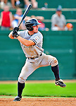 18 July 2010: Staten Island Yankees infielder Jeffrey Farnham in action against the Vermont Lake Monsters at Centennial Field in Burlington, Vermont. The Lake Monsters fell to the Yankees 9-5 in NY Penn League action. Mandatory Credit: Ed Wolfstein Photo