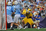 29 MAY 2011:  Matt Cannone (20) of Salisbury University unleashes a shot against Tufts University during the Division III Men's Lacrosse Championship held at M+T Bank Stadium in Baltimore, MD.  Salisbury defeated Tufts 19-7 for the national title. Larry French/NCAA Photos