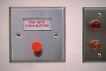 emergency help button on hospital wall