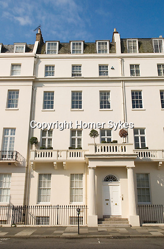 Typical Georgian town house Belgrave Street. Belgravia London SW1  London. UK 2008.