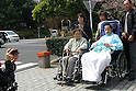 Apr 6, 2010 - Tokyo, Japan - Japanese Alzheimer's disease patients and their family are pictured in the front of The University of Tokyo Hospital on April 6, 2010. Recent investigations in the rural areas revealed that Alzheimer's disease in Japan occurred in about 3.5% of individuals aged 65 or more. An estimated 1 million Japanese have Alzheimer's disease today, according to the World Health Organization.