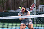 21 February 2017: ASU's Gabrielle Wreder. The University of North Carolina Tar Heels hosted the Appalachian State University Mountaineers at the Cone-Kenfield Tennis Center in Chapel Hill, North Carolina in a Women's College Tennis match. North Carolina won the match 6-1.