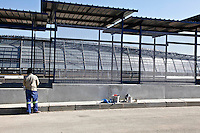 4 July 2009, Soweto, South Africa. Orlando Stadium. Preparations for Fifa Football World Cup 2010.