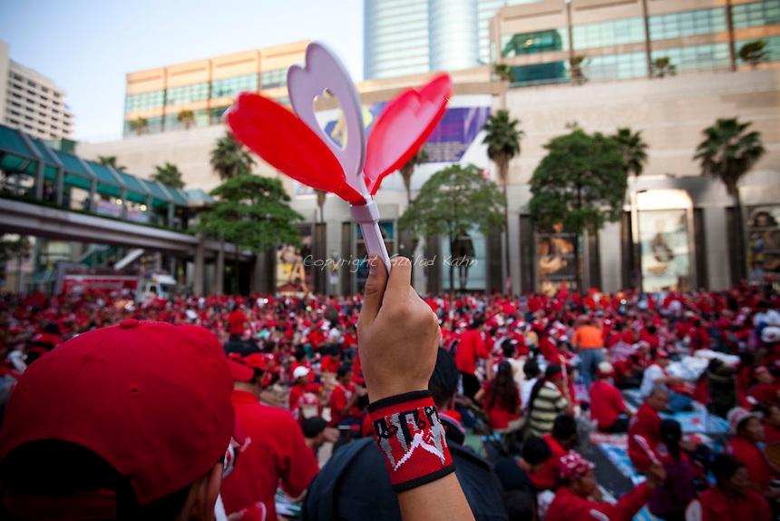 Red shirts UDD protests in Bangkok 04.04.2010