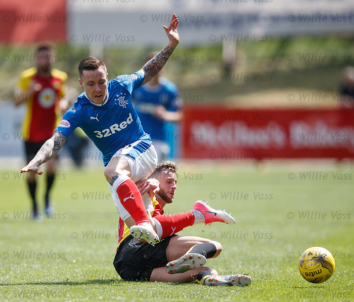Barrie McKay tackled by Christie Elliott