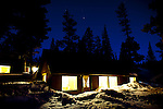 A cabin at Tamarack Lodge in Mammoth Lakes, Calif., January 27, 2011.
