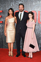 LONDON, UK. October 17, 2016: Cynthia Addai-Robinson, Ben Affleck &amp; Anna Kendrick at the premiere of &quot;The Accountant&quot; at the Empire Leicester Square, London.<br /> Picture: Steve Vas/Featureflash/SilverHub 0208 004 5359/ 07711 972644 Editors@silverhubmedia.com