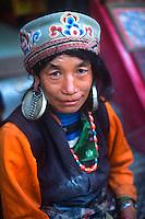 Woman vendor in Boudhanath.