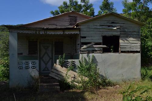 En esta humilde casita habría nacido Abel Martínez, en Hato Viejo, Monción, Santiago Rodríguez.