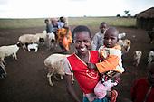 Samburu children, Kenya