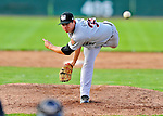 2 July 2011: Tri-City ValleyCats pitcher Kristian Bueno on the mound against the Vermont Lake Monsters at Centennial Field in Burlington, Vermont. The Monsters rallied from a 4-2 deficit to defeat the ValletCats 7-4 in NY Penn League action. Mandatory Credit: Ed Wolfstein Photo