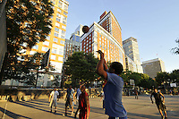 Hudson RIver Park, Playing Basketball, Battery Park CIty, Manhattan, New York City, New York, USA