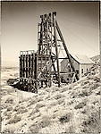 Desert Queen Mine and hoist house, historic mining park, Tonopah, Nev.