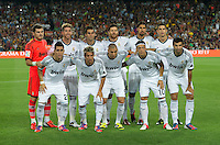 FUSSBALL  INTERNATIONAL  PRIMERA DIVISION  SAISON 2011/2012   23.08.2012 El Clasico  Super Cup 2012 FC Barcelona - Real Madrid  Mannschaftsbild Real Madrid; Torwart Iker Casillas, Sergio Ramos, Alvaro Arbeloa, Xabi Alonso, Sami Khedira, Cristiano Ronaldo (hinten v.li.) Jose Callejon, Fabio Coentrao, Karim Benzema, Mesut Oezil und Raul Albiol (vorn v.li.)