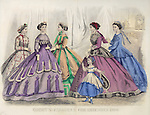 Vintage Illustration: Godey's Fashion magazine December 1866