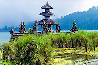 Bali, Tabanan, Bedugul. Parts of the Ulun Danu temple is built on the shores of the Bratan lake. This is a meru dedicated to Shiva.