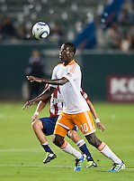 CARSON, CA – July 23, 2011: Houston Dynamo Je-Vaughn Watson midfielder (10) during the match between Chivas USA and Houston Dynamo at the Home Depot Center in Carson, California. Final score Chivas USA 3, Houston Dynamo 0.