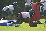 Ole Miss' Kentrell Lockett (40) goes through a drill at  football practice in Oxford, Miss. on Sunday, August 7, 2011.