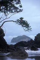 Rocky Pacific  coastline, Manuel Antonio National Park, Costa Rica