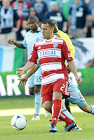 Daniel Hernandez (2) FC Dallas midfielder in action... Sporting KC defeated FC Dallas 2-1 at LIVESTRONG Sporting Park, Kansas City, Kansas.
