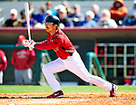 4 March 2010: Houston Astros' second baseman Kazuo Matsui in action during the Astros Grapefruit League Opening Day game against a Washington Nationals' split squad at Osceola County Stadium in Kissimmee, Florida. The Astros defeated the Nationals 15-5 in Spring Training action. Mandatory Credit: Ed Wolfstein Photo