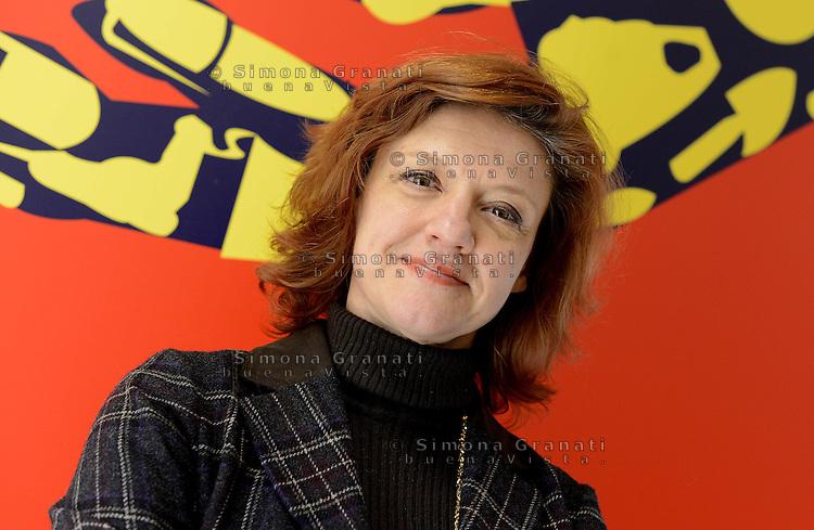 Roma, 14 Gennaio 2013.Conferenza stampa di Sinistra Ecologia Liberta su ambiente e lavoro, Monica Frassoni dei Verdi europei candidata