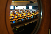 Inside the EU Parliament.